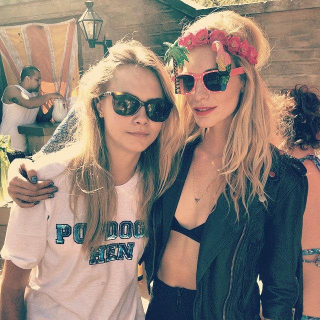 2014 Coachella - Best celebrity outfits  2014 Coachella – Best celebrity outfits 2014 coachella celebrities outfits cara and poppy delevigne